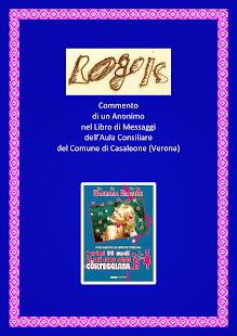 Commento di un Anonimo nel libro dei messaggi dell'Aula Consiliare Comune di Casaleone (Vr)