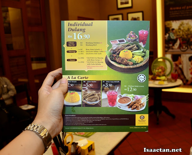 The Special MyDulang @ Old Town White Coffee Promotion Menu