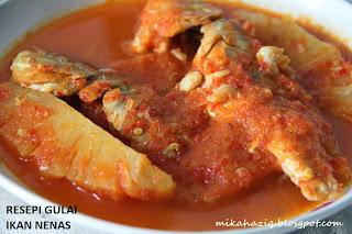 resepi ikan gulai masak nenas