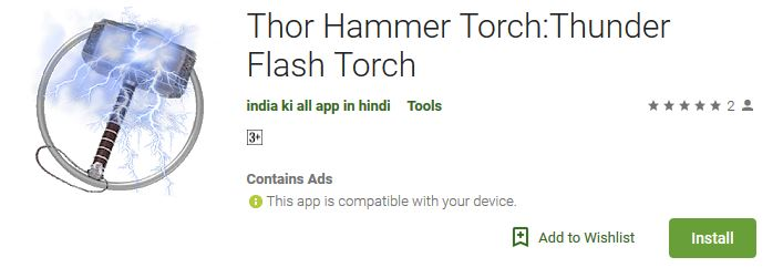Download Now Thor Hammer Thunder Torch