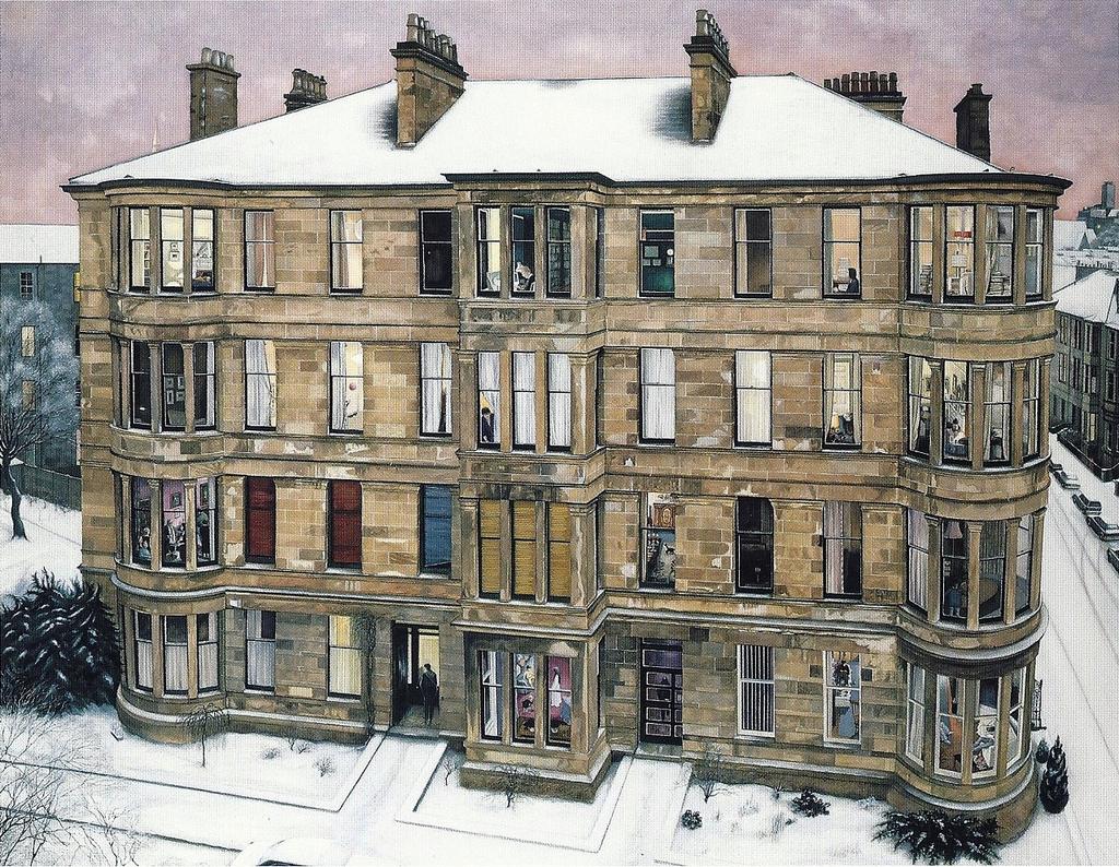 Famous Glasgow Tenement Paintings