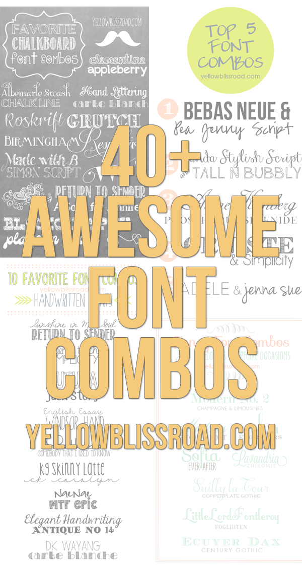 50+ Beautiful Font Combinations