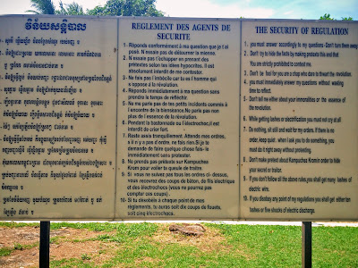 Regulation of the extermination camp of Toul Sleng (Cambodia)