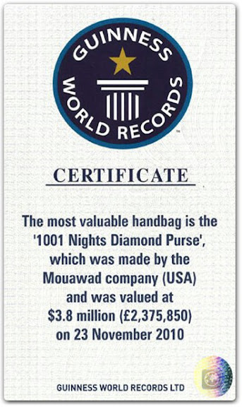 Most Expensive Handbag, 1001 Nights Diamond Purse