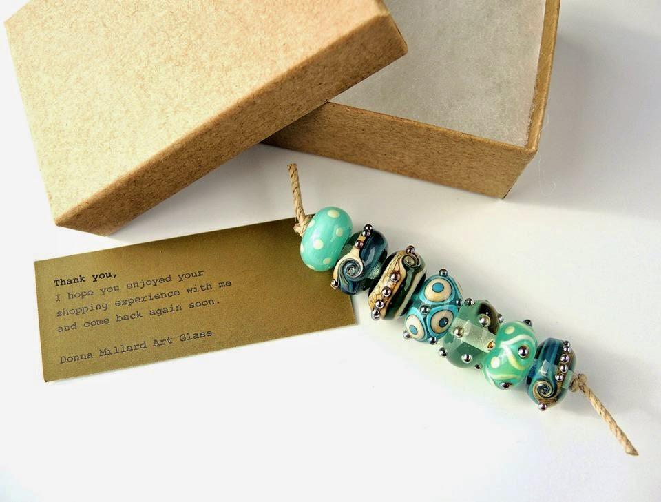 Lampwork beads from Donna Millard.