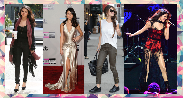 Selena Gomez shows off her personal style on her curvy body with layering and fitted gowns