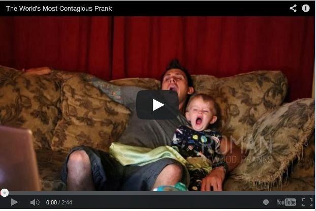 فيديو : أتحداك اذا لم تتثائب - اشد حالات العدوى في العالم