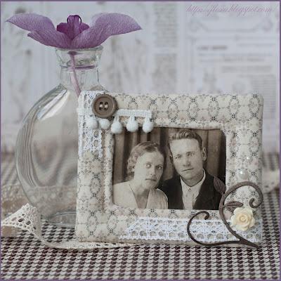 фоторамка херитаж, фоторамка для бабушки, фоторамка текстильная, рамка своими руками, рамка ручная работа