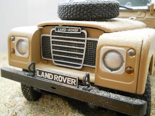 maqueta de Land Rover Serie III 109
