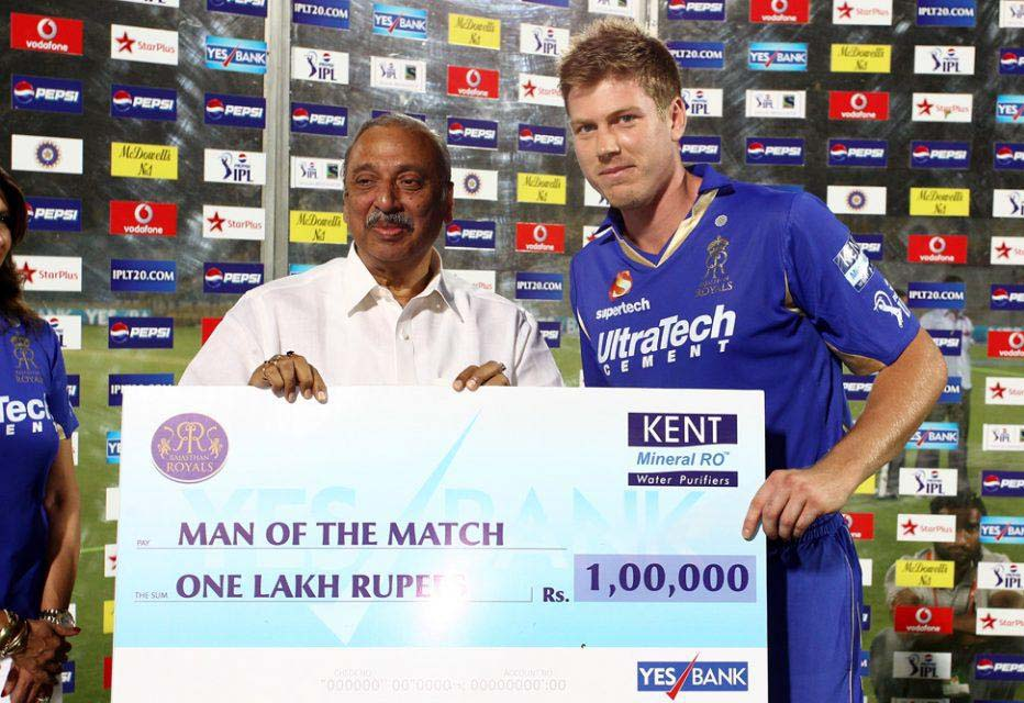 James-Faulkner-man-of-the-match-RR-vs-KXIP-IPL-2013