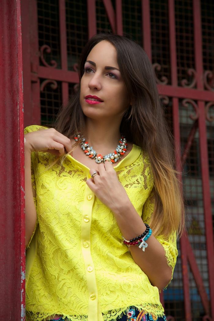 maglia pizzo giallo nara camicie