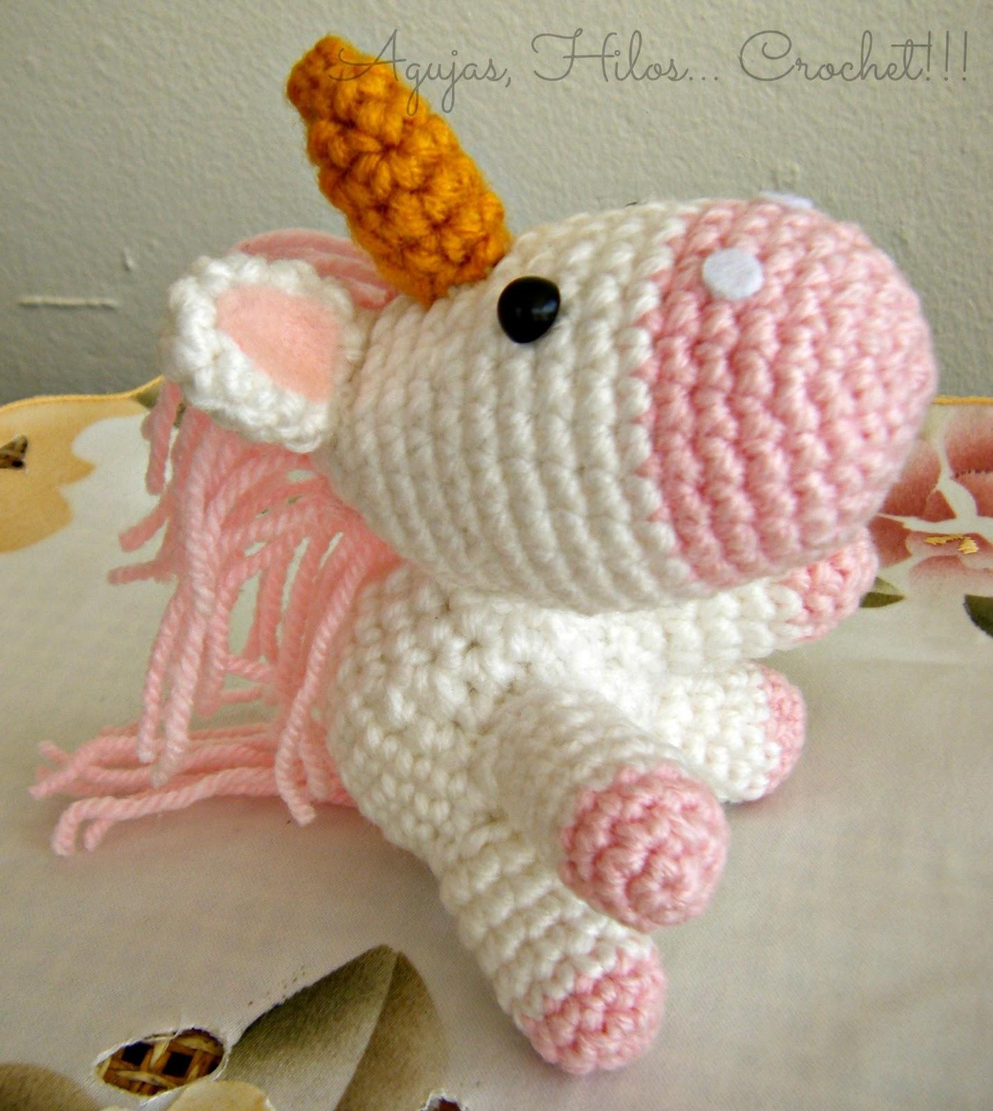 Amigurumi Unicornio Mi Villano Favorito : Un lindo unicornio - Agujas, Hilos... Crochet!!!