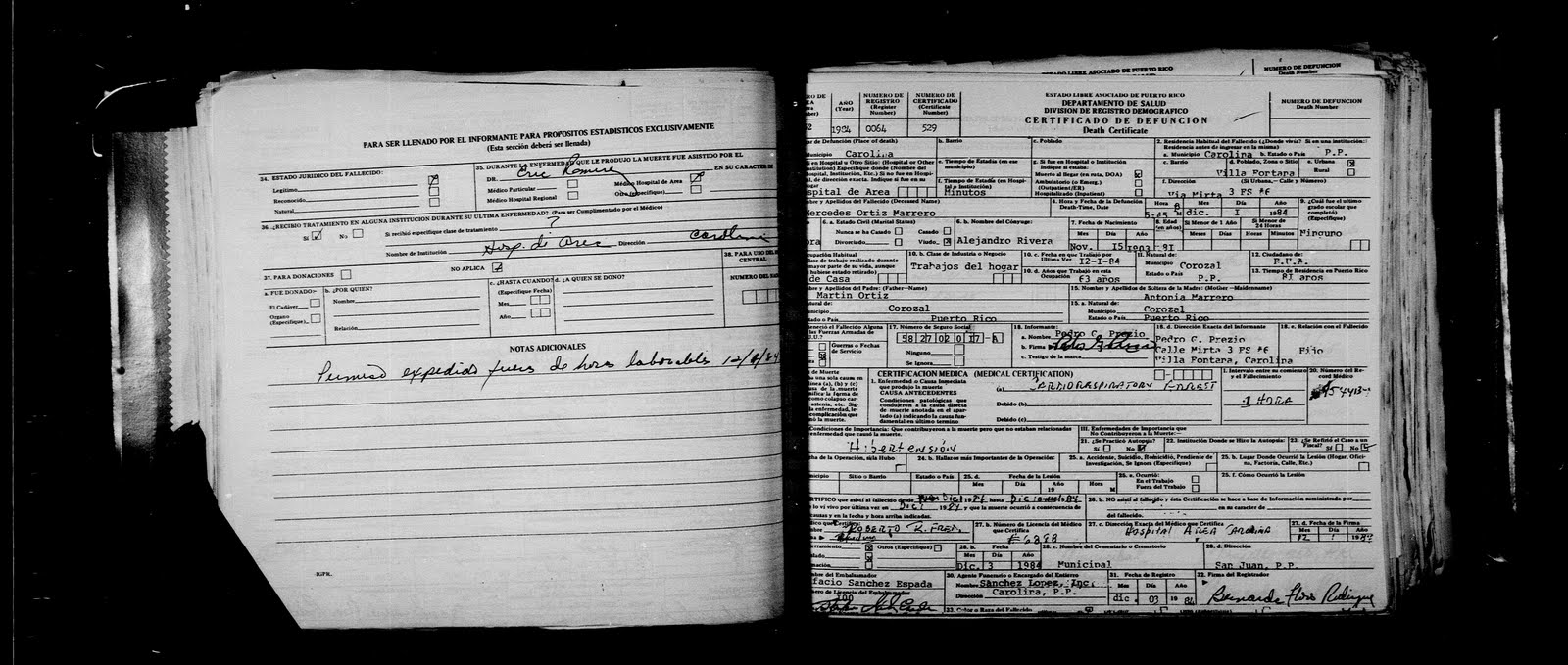 Genealogy under construction july 2011 mercedes ortiz death certificate aiddatafo Image collections