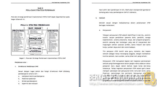 Pola Pembinaan Implementasi KTSP SMP