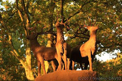 sculpture Gloria Friedmann Le Gardien lumière forêt Rougeau Nandy Seine-et-Marne