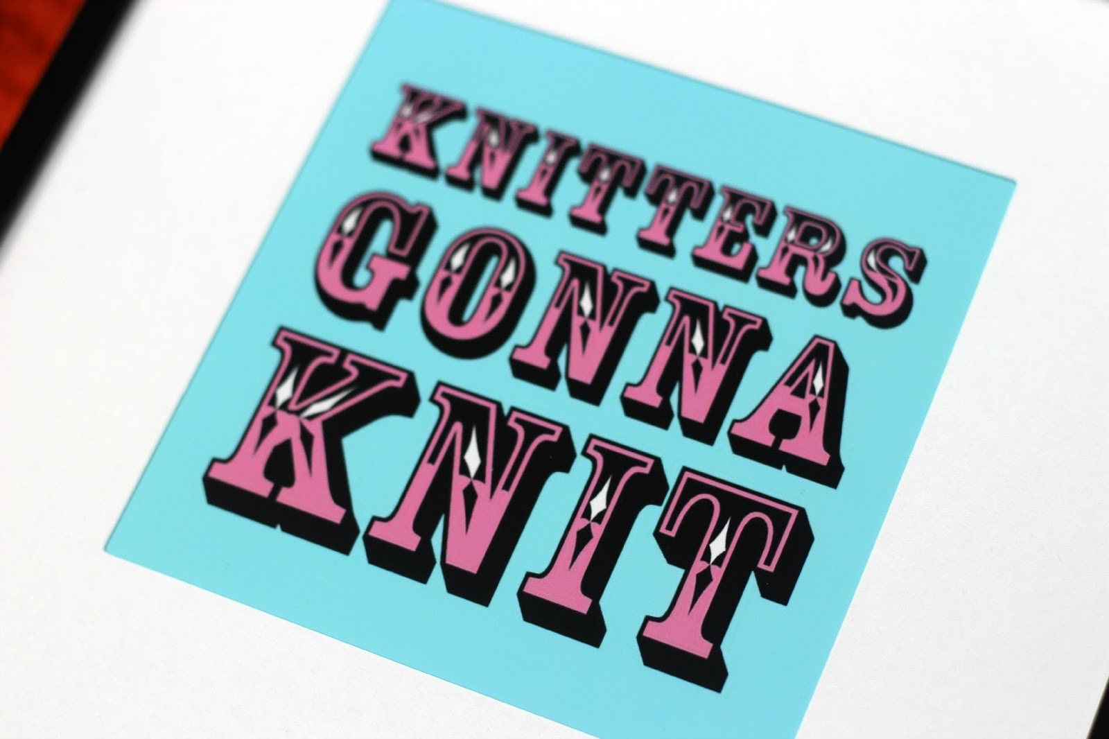 cobberson knitters gonna knit turquoise print