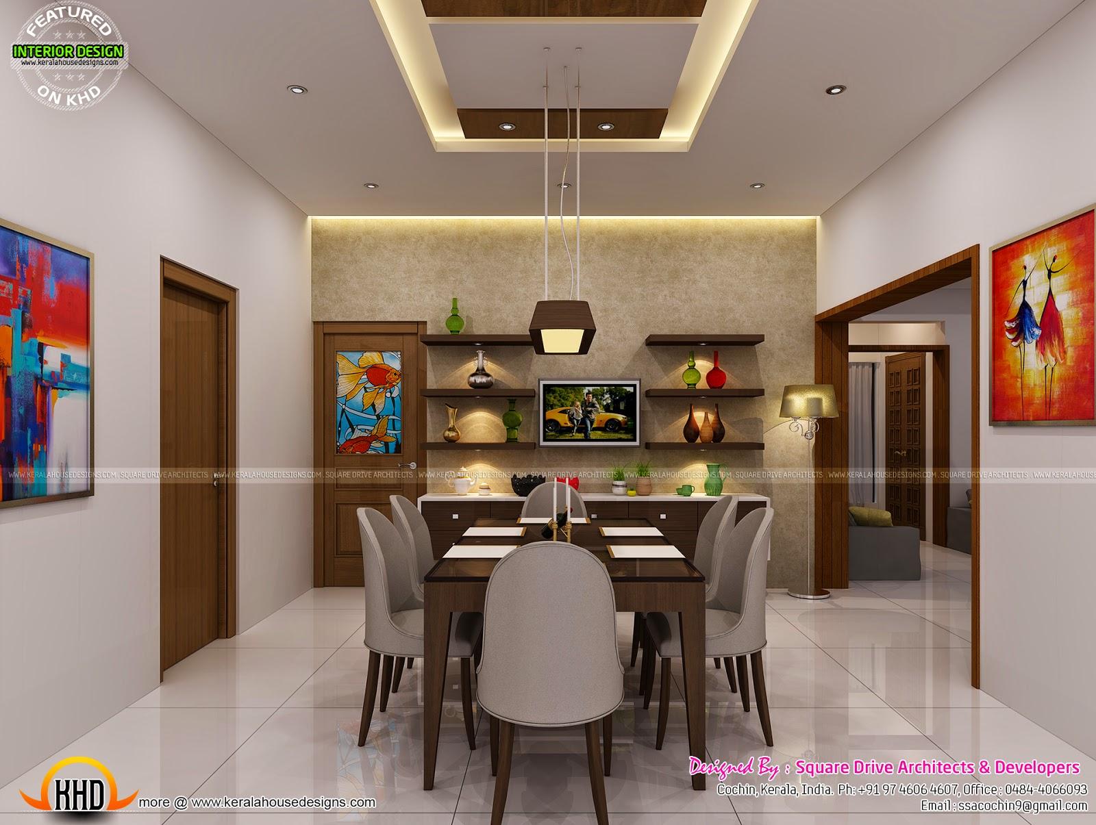 Interior decor by square drive architects kerala home