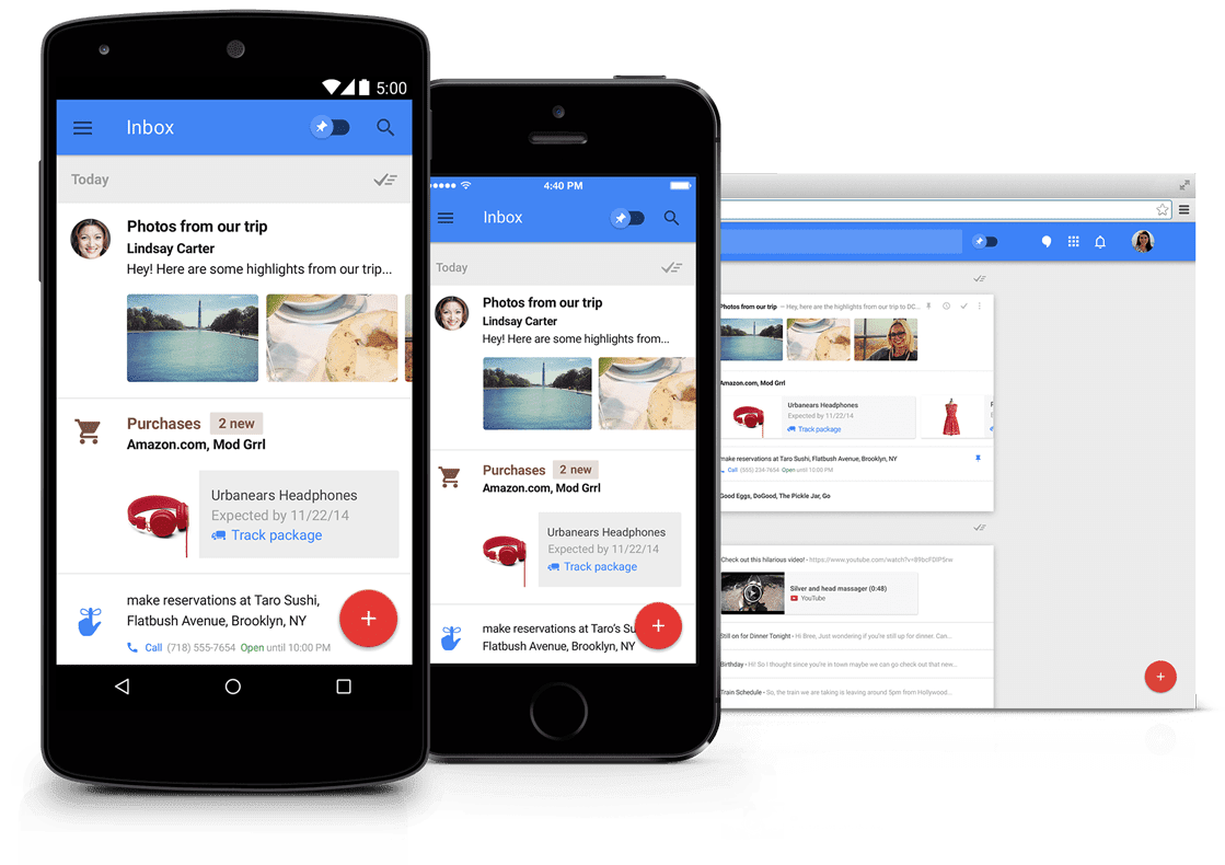 Google Now + GMail = Google Inbox