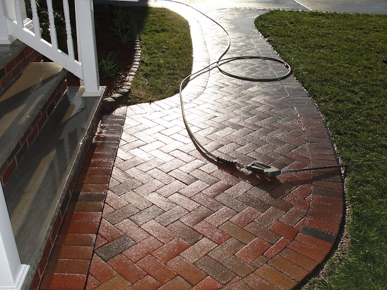 Long Island Brick paver cleaning at its finest