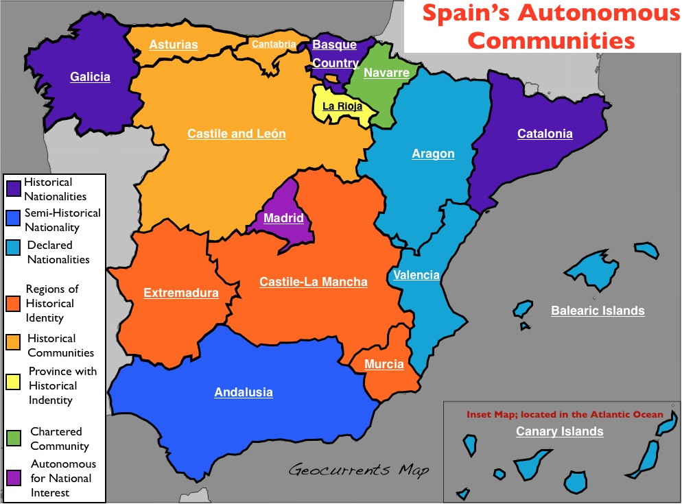 the conflict and divide in spain The spanish civil war was a conflict fought in spain from 1936 to 1939,  by  april 1938, republican territory was divided into a small region.