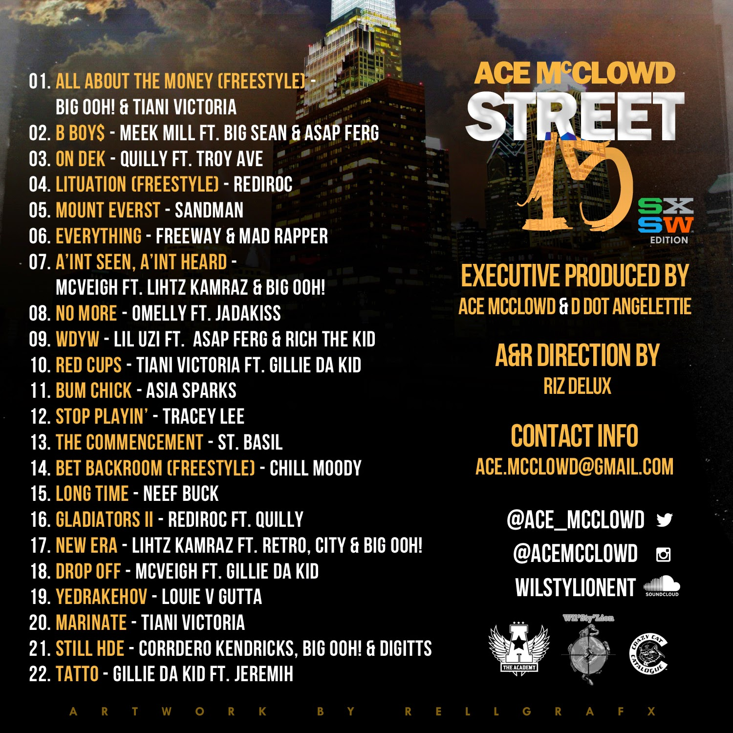 "The Academy & Crazy Cat Catalogue Present... Ace McClowd - ""Street 15"" Mixtape {SXSW Edition} www.hiphopondeck.com"
