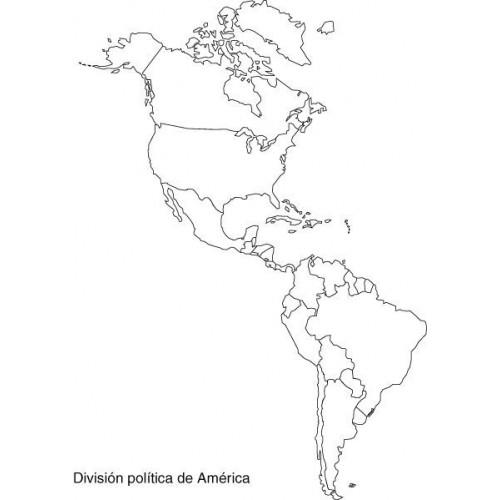 Mapa político de américa en blanco - Imagui
