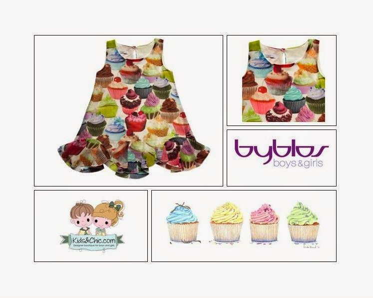 Girls Viscose Cupcake Dress - Byblos