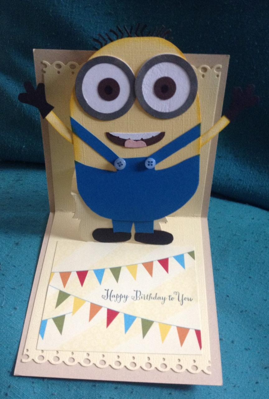 Nerdy image within minion birthday card printable