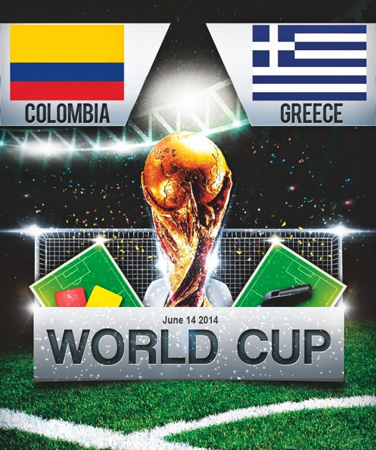 FIFA World Cup 2014 - Colombia Vs Greece