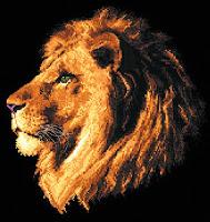 вышитый лев