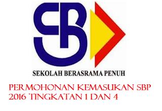 Permohonan SBP 2016