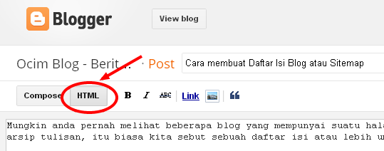Berita Bekakas: Cara membuat Daftar Isi Blog atau Sitemap