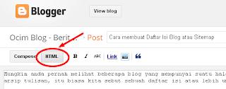 Cara membuat Daftar Isi Blog atau Sitemap