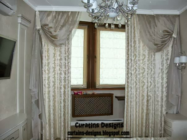 Embossed curtain designs and draperies for bedroom luxury Bedroom curtain ideas