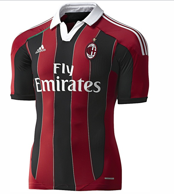 Camiseta AC Milan 2012 2013 Adidas   Maglia Home AC Milan 2013