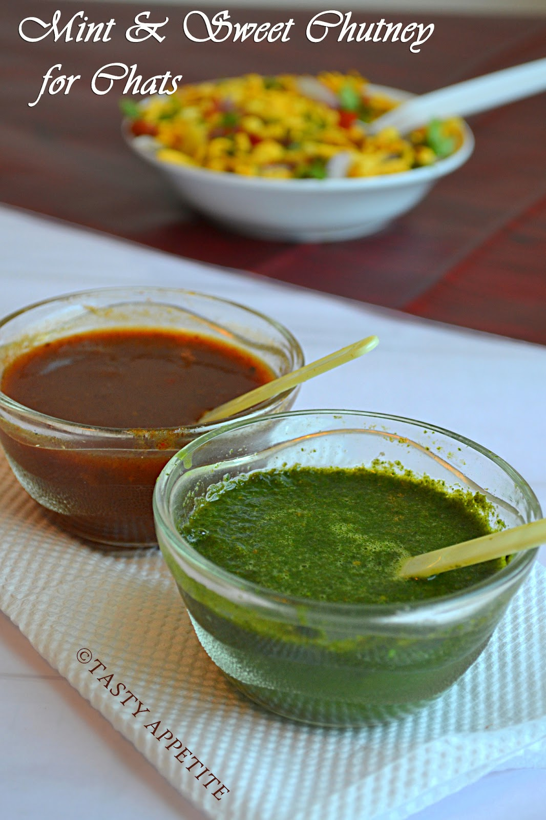 how to make green chutney sweet chutney for chats. Black Bedroom Furniture Sets. Home Design Ideas