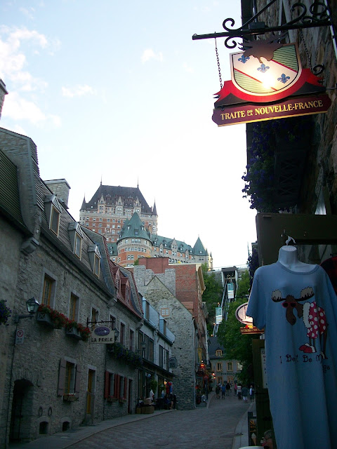 Looking Up Rue Sous Le Fort Toward Cau Frontenac