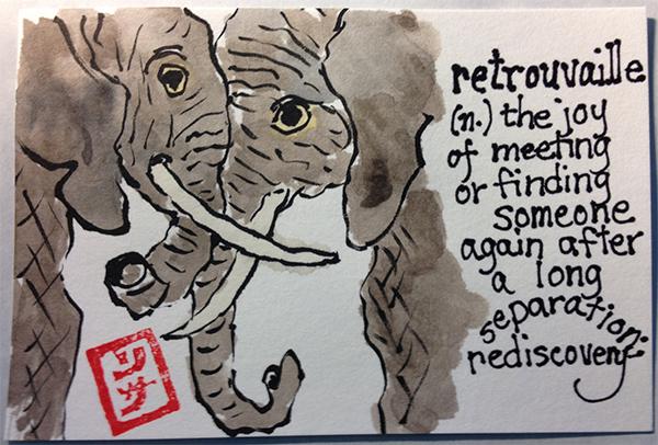 elephant etegami
