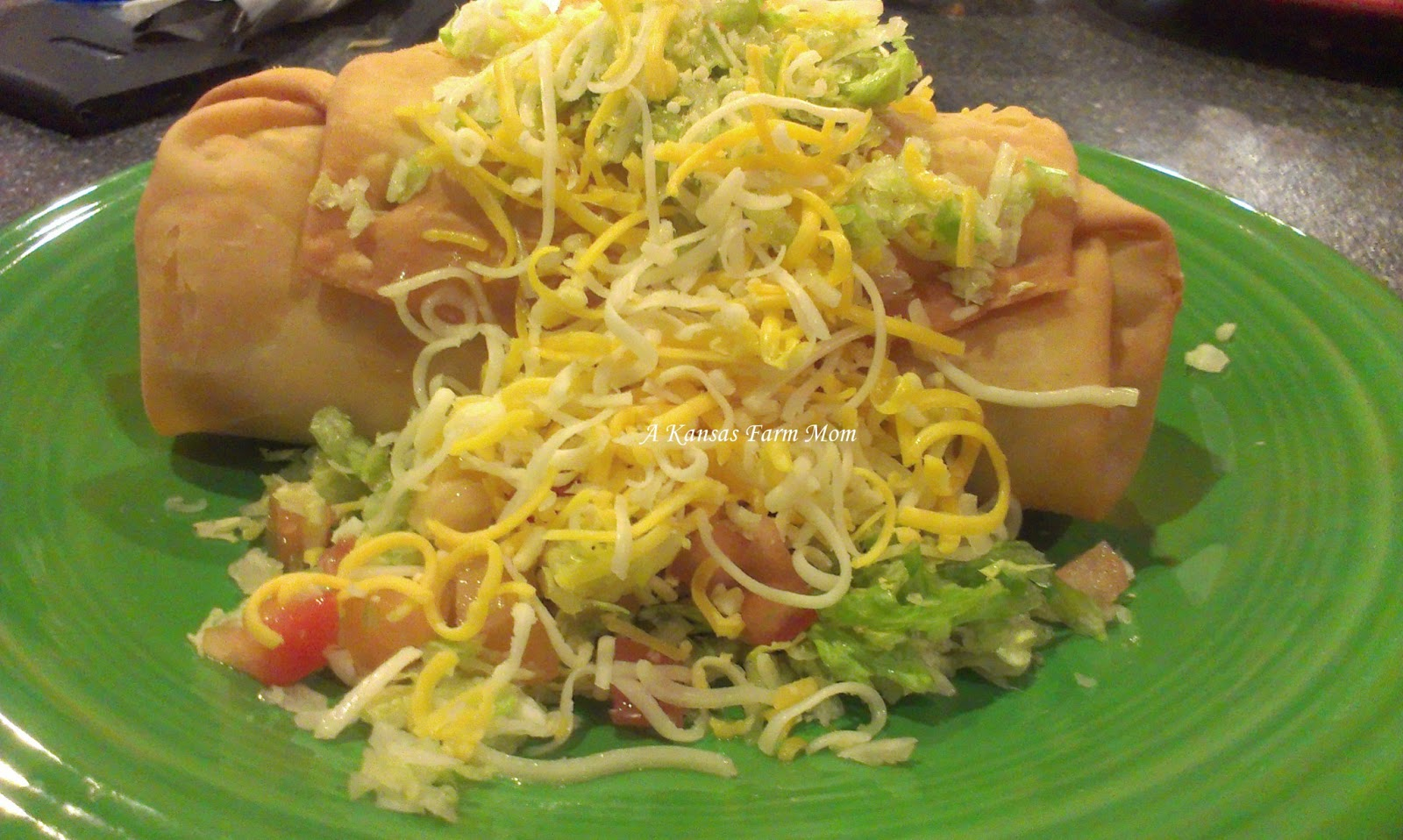 ... personal favorite item is the Shredded Beef and Cheese Chimichanga