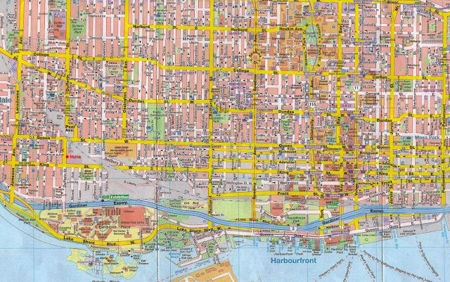 detailed scanned map of Toronto streets