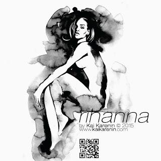 Rihanna by Kai Karenin, mixed media illustration
