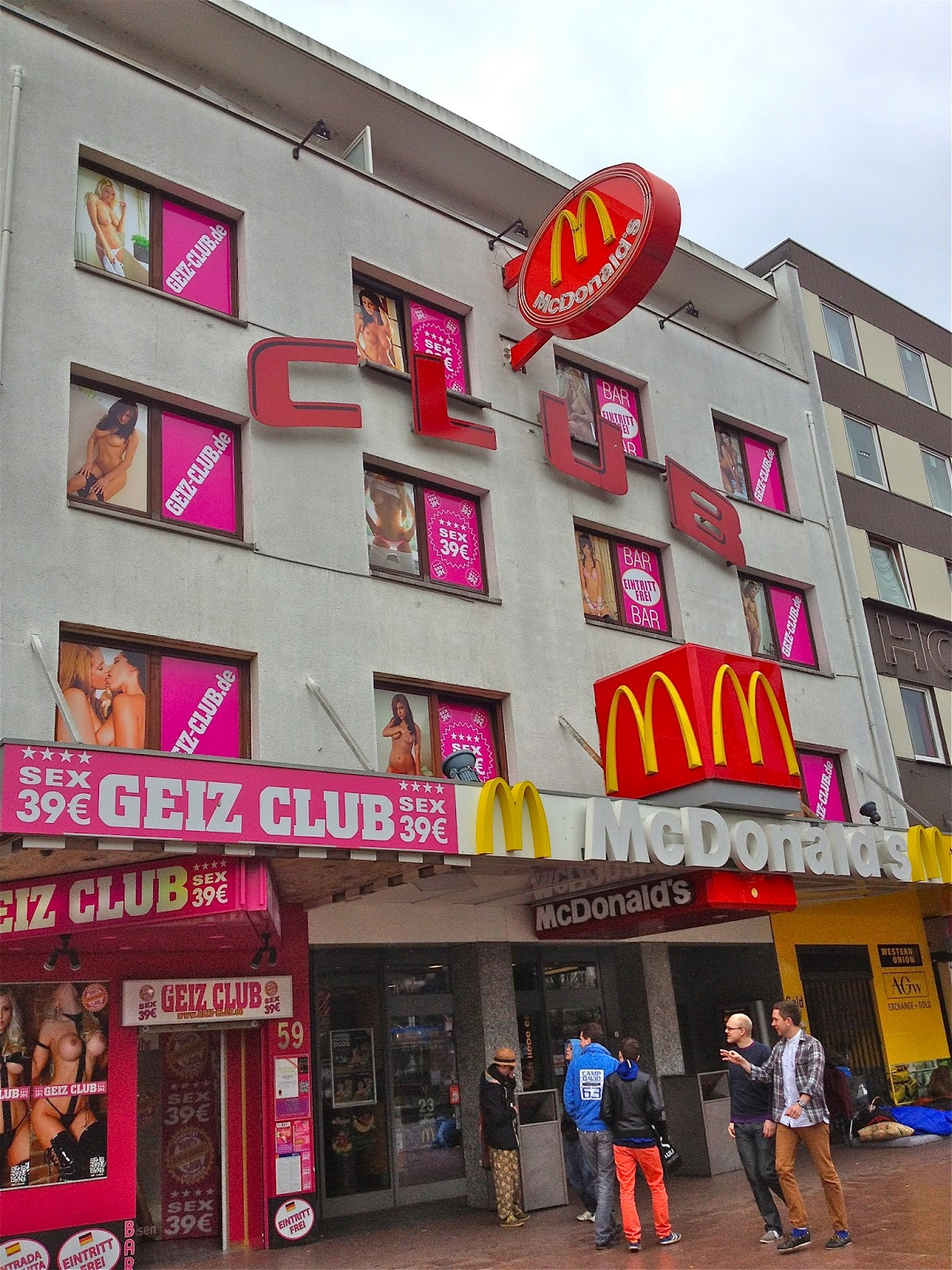 Picture of McDonald's in Hamburg's Reeperbahn.