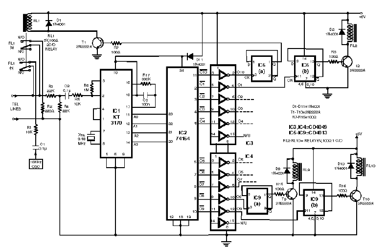 loadedcircuit com  remote control using telephone