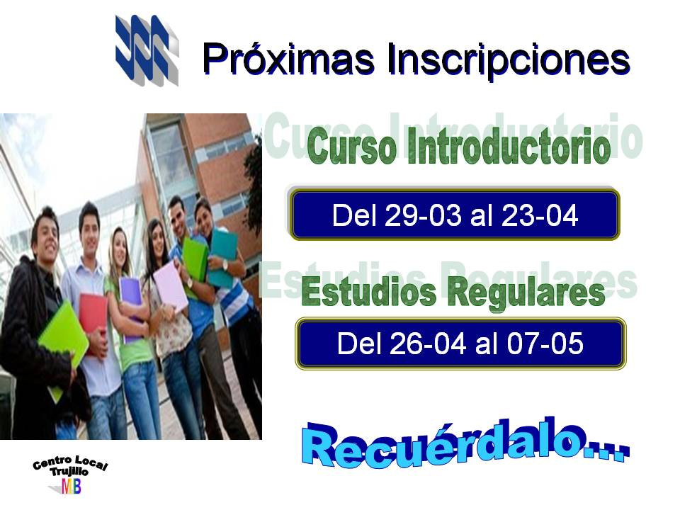 Inscripciones Centro Local Trujillo
