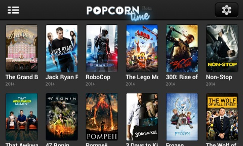 Popcorn Time BitTorrent-powered free Movie Streaming Android App