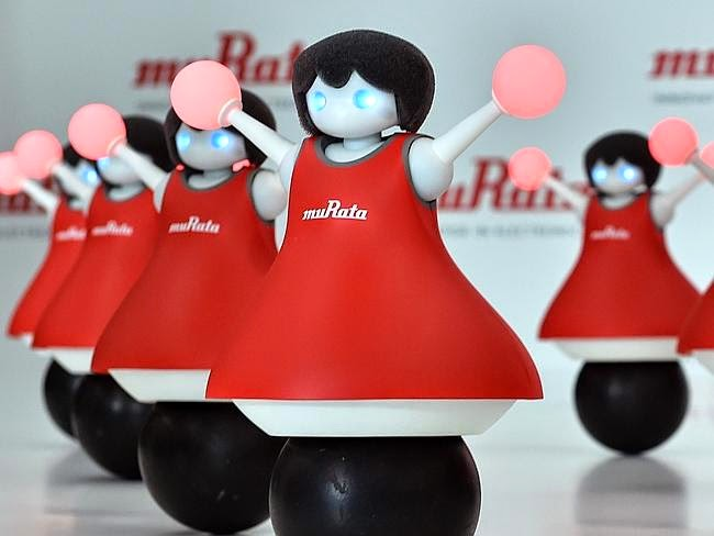 Cheerleading robots have debuted in Tokyo by creator Murata Manufacturing