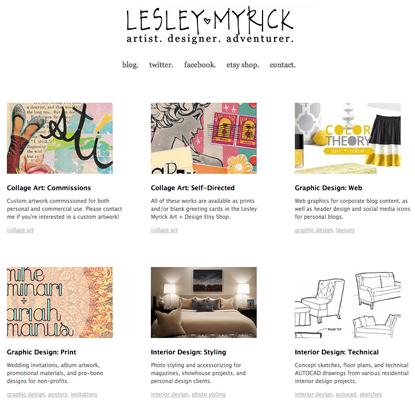 Lesley Myrick portfolio on Cargo