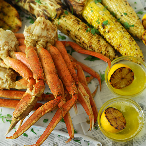 How to grill crab legs, Big Green Egg crab legs, kamado grill crab legs