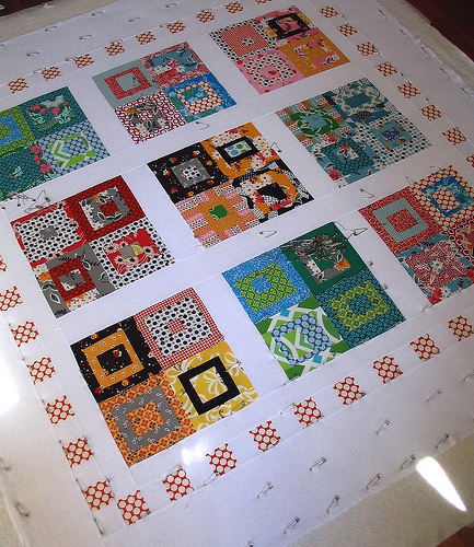 Red Pepper Quilts: Basting and Batting : quilt basting frame - Adamdwight.com