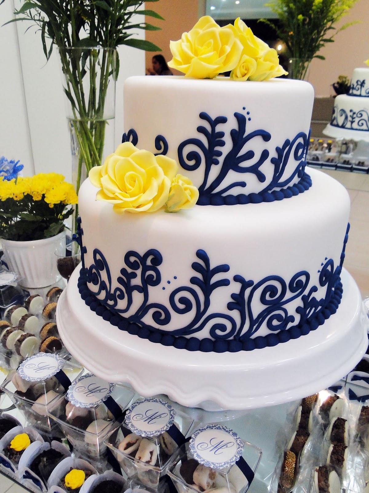 decoracao casamento azul marinho e amarelo : decoracao casamento azul marinho e amarelo:Princesas de Cristo: Casamento: azul marinho e amarelo!